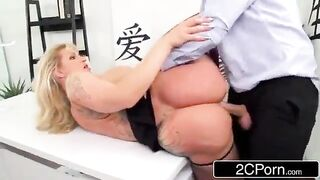 Breasty Office Mother I'd Like To Fuck Gets Screwed By Large Rod in The Butt - Ryan Conner